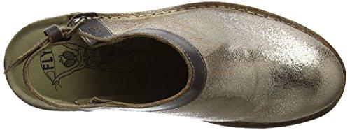 Fly London P210894010, Zapatos de Tacón Mujer Plateado (luna/ground 009)