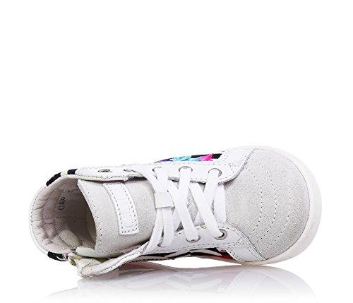 Kind aus und CULT mit Sneakers Mädchen Reißverschluss Wildleder Mehrfarbigen seitlich Damen ein Stoff Schnürsenkel TxOqA
