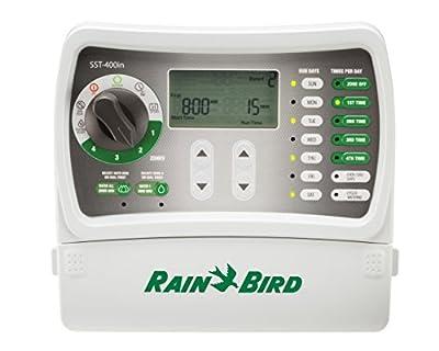 Rain Bird SST400IN Simple-To-Set Indoor Sprinkler System Timer/Controller, 4-Zone/Station