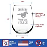 Horses Keep Me Stable – Cute Funny Stemless Wine