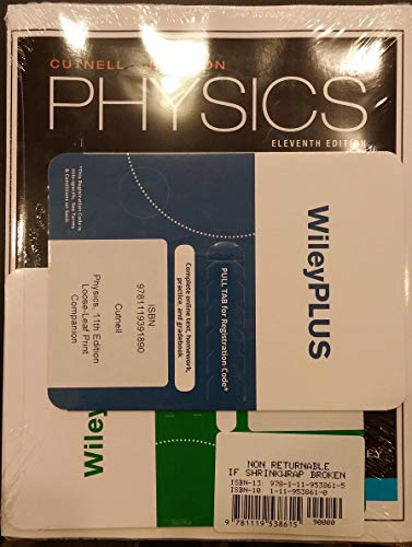 Physics 11th edition Ebook Access Code with WileyPlus Access Code and Print Companion (Wiley Physics Access)