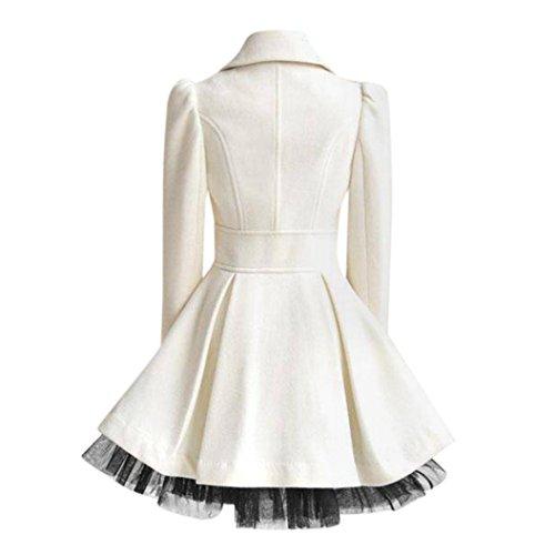 outwear coupe capuche en veste mode manteau Slim fermeture était une femmes glissière coton gaze blanc femmes de mince pull en rembourré d'hiver à veste Rcool à vent qxtgf64w4