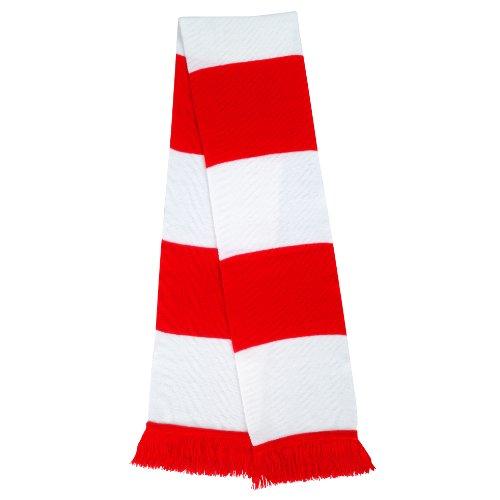 rojo Aficionados y Unisex Rojo R146x Oscuro Bufanda blanco R146X única para multicolor Talla Azul y Result tpRZqW