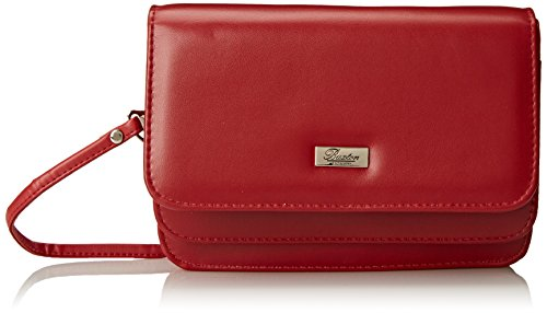 Buxton Women's Double Flap Mini-Bag, Red, One Size