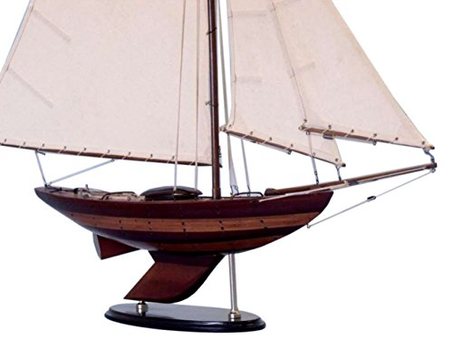 Hampton Nautical  Wooden Old Ironsides Sloop Model Yacht 40