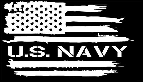Firehouse Graphics American Flag US Navy USA Military Vinyl die Cut Sticker Decal (3