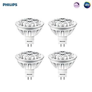 Philips LED 461509 Bright White 50 Watt Equivalent MR16 LED Light Bulb, 4 Pack, 4-Pack, 4 Count