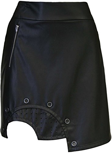 Jamie Sadock Women's Jet Leather Golf Skort (Jet, 4) by Jamie Sadock