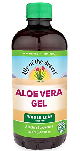 Lily of the Desert Aloe Vera Gel, Whole Leaf, 32 Ounces (Desert Leaf)