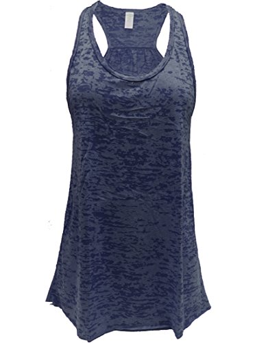 - Epic MMA Gear Flowy Racerback Tank Top, Burnout Colors, Regular and Plus Sizes (M, Navy)