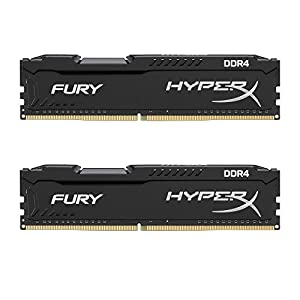 HyperX Fury Black 16GB 2666MHz DDR4 CL16 DIMM Kit of 2 1Rx8 (HX426C16FB2K2/16) 41lkrqRK5AL. SS300