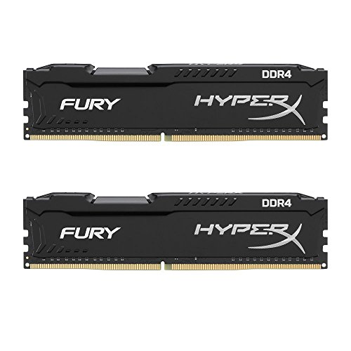 HyperX Kingston Technology Fury Black 16GB 2666MHz DDR4 CL16 DIMM Kit of 2 1Rx8 (HX426C16FB2K2/16) ()