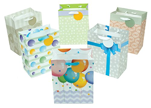 12 Piece Small Designer Favor Gift Bags, 9.5