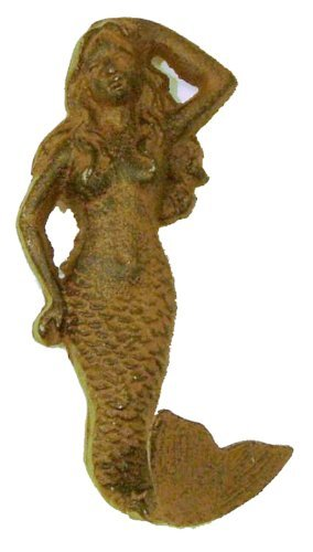 Nautical Rust Cast Iron Mermaid