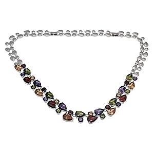 Gemstones Sets 925 Sterling Silver Peridot Amethyst Garnet Morganite