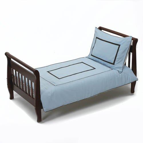 Baby Doll Bedding Hotel Style Toddler Bedding Set, Blue by BabyDoll Bedding   B004FPYFSE