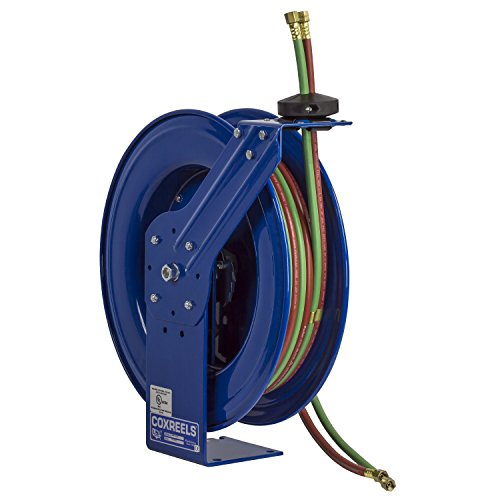 Coxreels Twin Line Spring-Driven Welding Hose Reel, Model# SHW-N-1100, 1/4'' Hose ID, 100' Length by Coxreels