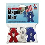 Adams Manufacturing - 4 Pack - Magnet Man Clip Plastic Assorted Colors 3/Pack ''Product Category: Desk Accessories & Workspace Organizers/Wall & Panel Organizers''