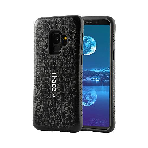 (Bidear) Galaxy S9ケース iFace mallケース 全面保護 耐衝撃 カバー モザイク様式 指紋防止 黒