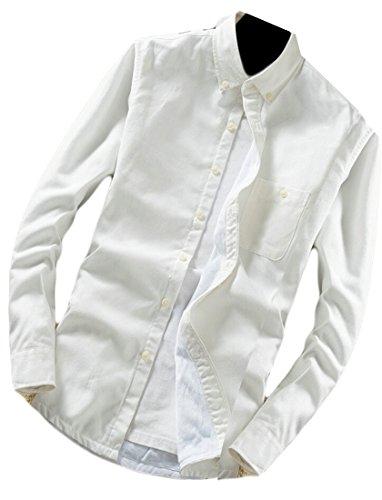 M&S&W Men's Fashion Thick Plaid Long Sleeve Button Down Shirt 10