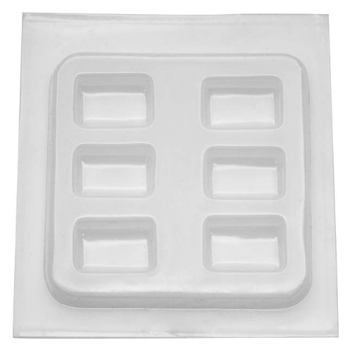 (Yaley Resin Epoxy Mold For Jewelry Casting - 6 Rectangles 1 x 1 1/2 Inch)