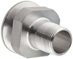 Dixon 21MP-R10075 Stainless Steel 316L Sanitary Fitting, Clamp Adapter, 1\