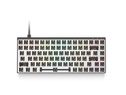 Galaxy 75 Modular Mechanical Gaming Keyboard - 75% Layout - ANSI US - USB Type C - Full Aluminium Chassis by HK Gaming (Barebone, Black)