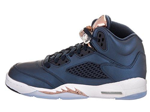 Nike Herren Air Jordan 5 Retro Bg Basketballschuhe Schwarz (black (Obsidian / Obsidian-MTLC Bronze rot-weiß))