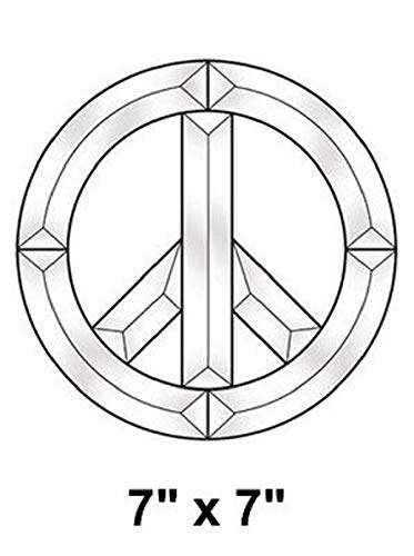 7 Inch Peace Sign Beveled Glass Cluster - Stained Glass Supplies 845