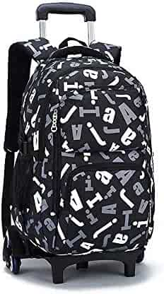 C-Xka Trolley Rolling Backpack Luggage School Travel Book Multifunction Wheeled  Backpack Students School Bags 71d520f8675ea