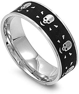 JewelryVolt Stainless Steel Ring Carbon Fiber