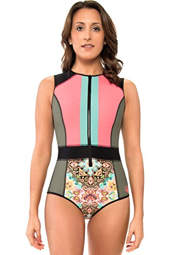 Body Glove Women's Rise Up Pompei Surf Suit Swimsuit, Agave - X-Small by Body Glove