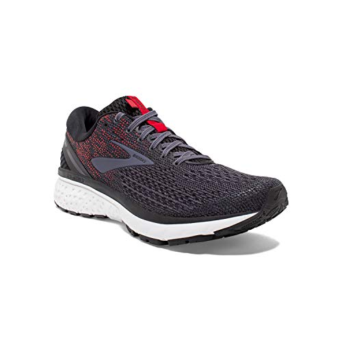 Brooks Mens Ghost 11 Running Shoe - Black/Graystone/Cherry - D - 10.5 (Best Marathon Shoes For Heavy Runners)