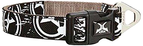Casual Canine Xtreme Logo Collar, 10 to 16-Inch, Black