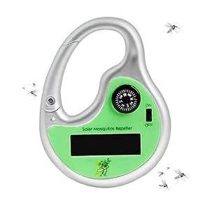 Solar Mosquito Repeller Pests & Killer - Solar Electronic Mosquito Repeller Ultrasonic Mosquito Pest Killer Outdoor Compass - Battery - 1PCs