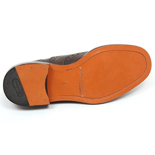 SANTONI C7814 Scarpa Inglese Uomo Scarpe Marrone Scuro Shoe Man Marrone scuro Bajo Coste De Envío MlEK4HfS