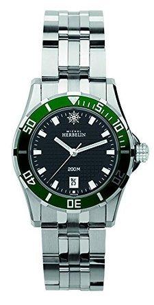 Michel Herbelin 14290-VE14B Ladies Newport Trophy Silver Steel Bracelet Watch