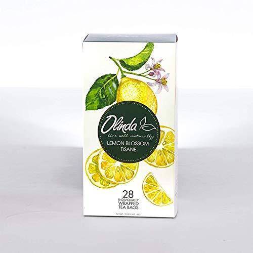 Olinda Lemon Blossom Tisane Herbal Tea with Citrus, Cinnamon and Hibiscus, 28 Hot Tea Bags (Pack of 1)
