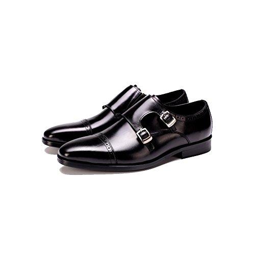 degli Uomo all'Usura Antiscivolo Maschi Black Cuoio di Assorbimento Resistente Affari Stringate Scarpe Urti YIWANGO da Casuale q67xHE