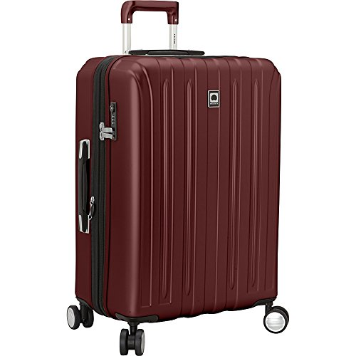 Delsey Helium Titanium 25 Inch Spinner Trolley (Black Cherry)