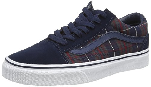 Vans Plaid Blues Unisex U Skool Adulto Blue Zapatillas Dress Old rqwr0O4x1