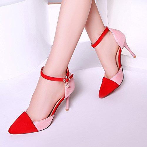 Boca Sandalias verano de prueba de Velcro Zapatos baja tacón Sandalias Impermeable hebilla alto moda de Red a agua Con Coreano de rY8gwr