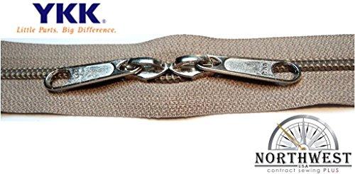 YKK #5 CN Zipper coil chain. Each yard comes with 2 sliders. (Khaki, 10 yard, 20 nickel - Yard Coil 10