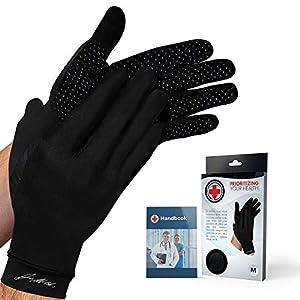Doctor Developed Full Length Arthritis Gloves/Copper Gloves/Compression Gloves [Pair] and Doctor Written Handbook… 16