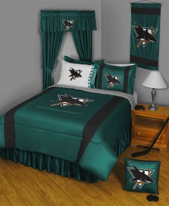 NHL San Jose Sharks Sideline Comforter Queen