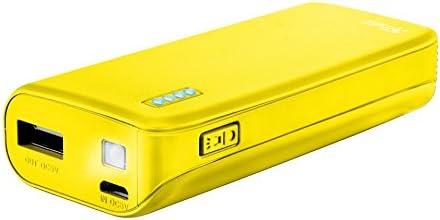 Trust Urban Primo - Cargador portátil con Puerto USB y batería de 4400 mAh incorporada para teléfono y Tableta, Color Amarillo
