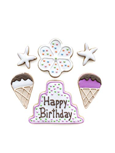 - Sandy Paws Gourmet Dog Treats - Happy Birthday Pink Gift Bag - Cookies for Dogs - Organic Biscuits