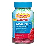 Emergen-C Gummies Immune Plus Vitamin D, Raspberry, 45 Gummies (Pack of 2)