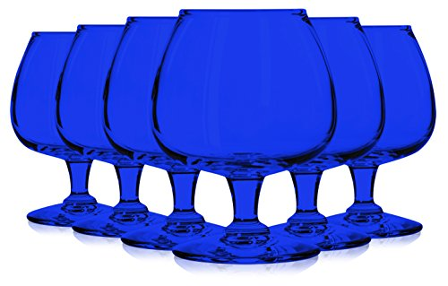 Libbey Cobalt Blue Jumbo Brandy Glasses 22 oz. set of 6 - Additional Vibrant Colors Available by TableTop King
