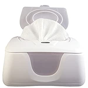 Baby Wipes Warmer and Dispenser, Advanced Features with 4 Bright Auto/On Off LED Ample Lights for Easy Nighttime Changes, Dual Heat for Baby's Comfort, Improved Design and Only Available at Amazon